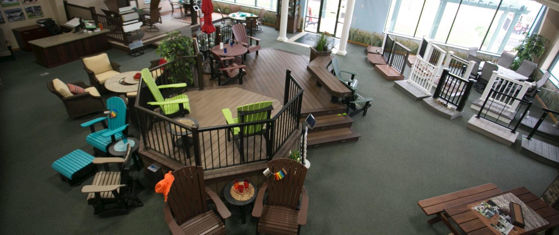 Deckmasters custom indoor deck showroom